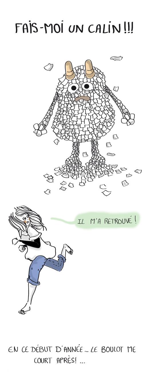 monstre travail. Travailler en ce début d'année 2012. Blog d'une graphiste talentueuse.