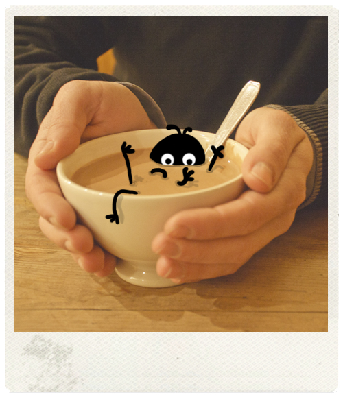 Le temps d'un chocolat chaud et dans la douceur de la vapeur de celui-ci, un Zozio qui plongent avec allégresse ses petites pates dedans ! Illustratrices et blogueuse connue Nanao nous amuse avec son univers plein de tendresse, de poésie et de sucreries ! Un régal !