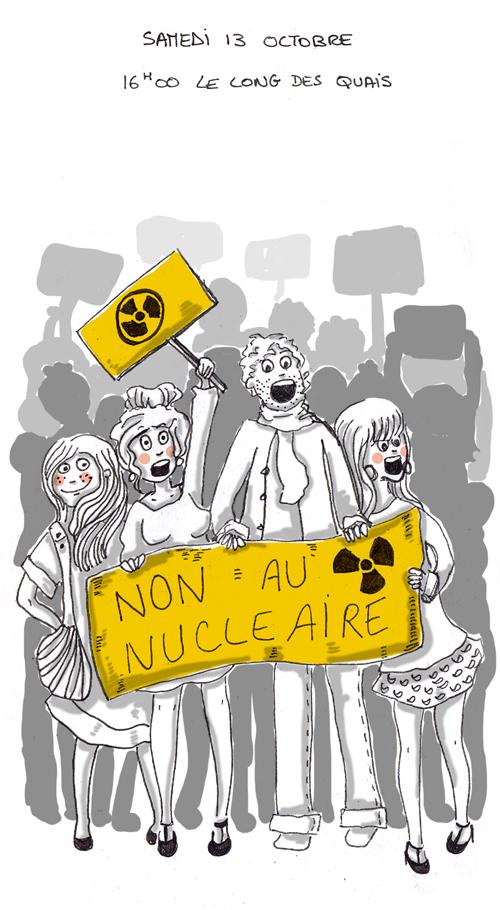 Samedi 13 Octobre, le long des quais à 16h00. Contre ou pour le nucléaire en France. Le grand début. Manifestation contre le nucléaire à Lyon ou dans la France. De plus en plus de...